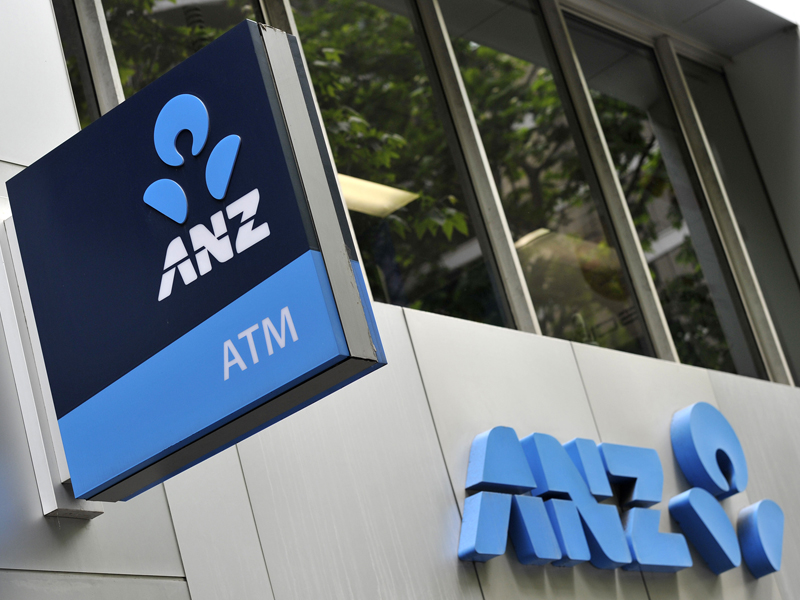 ANZ bank signage in Sydney, Friday, Oct. 23, 2015. More Australian homeowners are facing higher mortgage repayments after the National Australia Bank became the third major lender to hike its standard variable home loan interest rates. (AAP Image/Joel Carrett) NO ARCHIVING