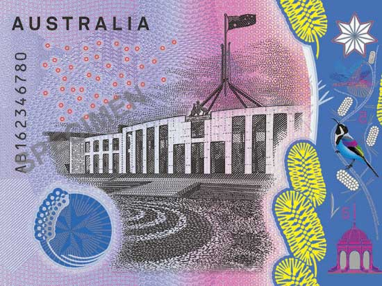 02_New five-dollar banknote design revealed