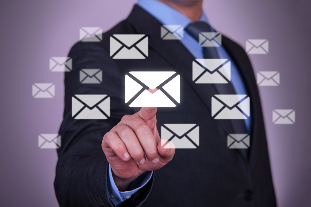 Email marketing inbox on a computer