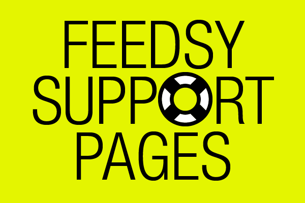 Feedsy support pages