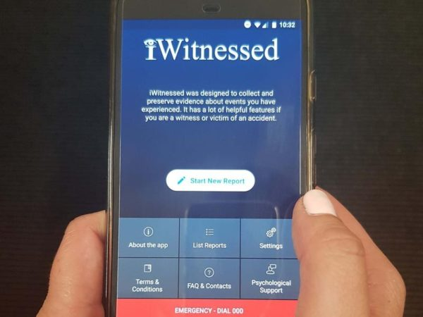 Phone app helps witnesses record evidence