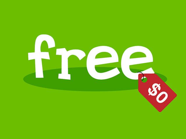Free $0 sign