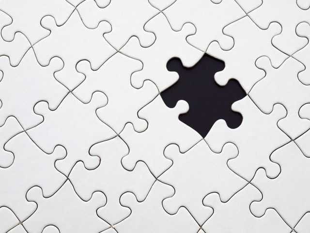 Jigsaw puzzle missing piece marketing challenge