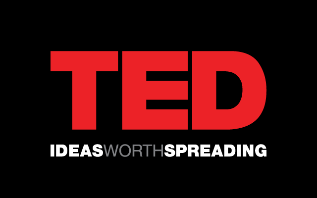 TED Talk reversed logo on black