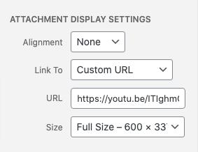 Add media settings